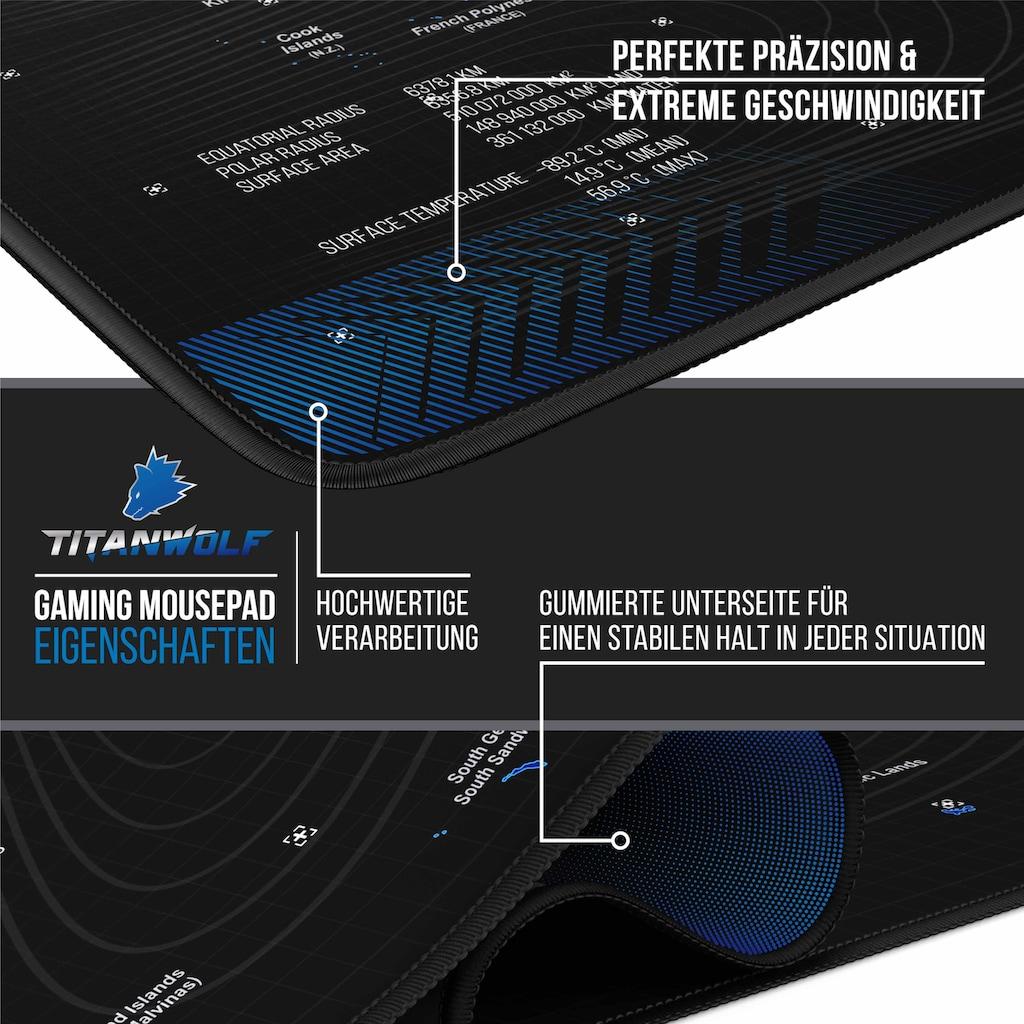 Titanwolf Gaming Mauspad »Mousepad - verbessert Präzision & Geschwindigkeit«, mit 900 x 400mm