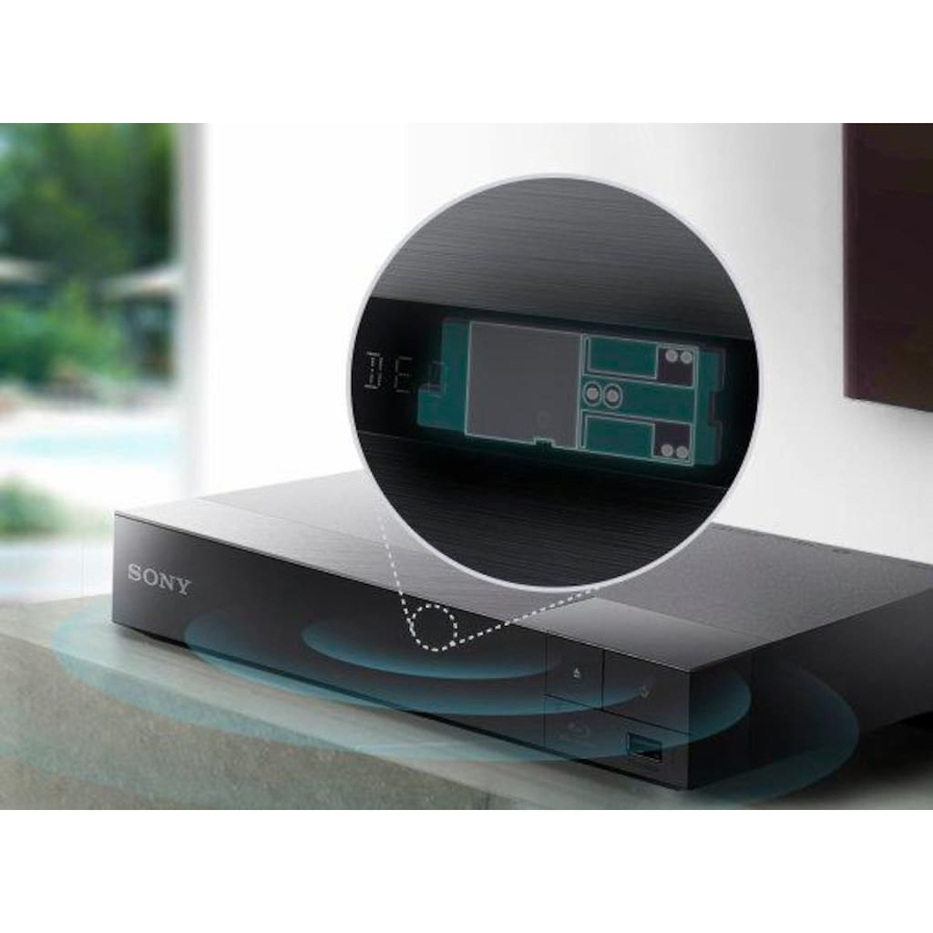 Sony Blu-ray-Player »BDP-S6700«, 4k Ultra HD, Miracast (Wi-Fi Alliance)-LAN (Ethernet)-WLAN, 3D-fähig-4K Upscaling, Full HD