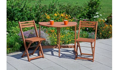 MERXX Gartenmöbelset »Porto«, 3 - tlg., 2 Klappstühle, Klapptisch60x90 cm, Eukalyptus kaufen
