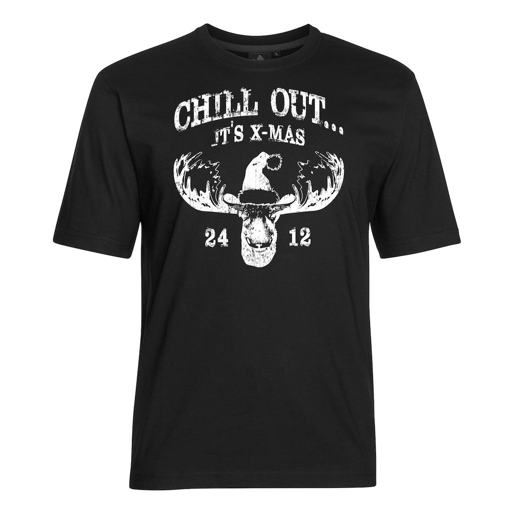 AHORN SPORTSWEAR T-Shirt mit trendigem Frontprint