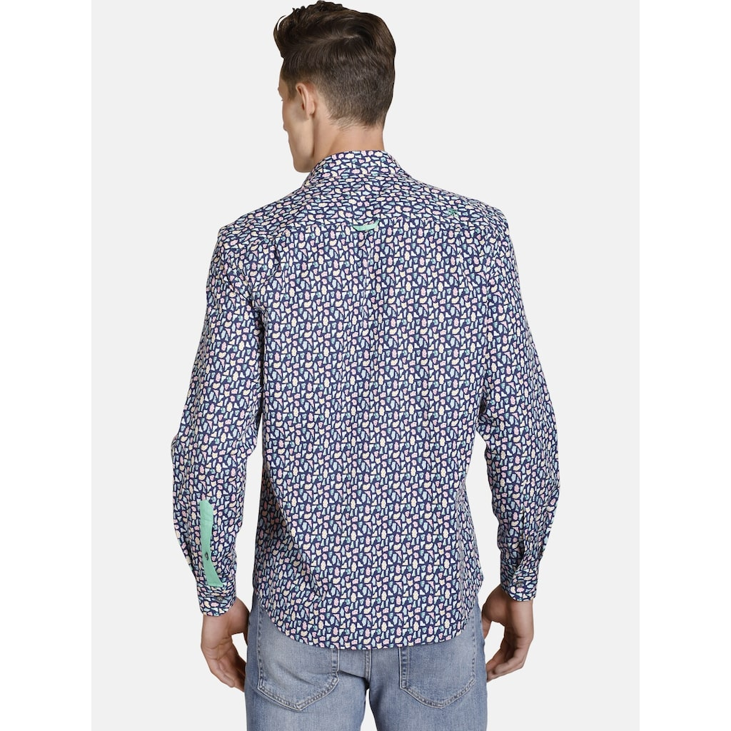 SHIRTMASTER Langarmhemd »oxfordgems«, moderner All Over Print