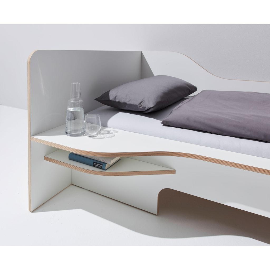 Müller SMALL LIVING Funktionsbett »PLANE«, aus Birkenschichtholz mit geschwungenem Seitenteil