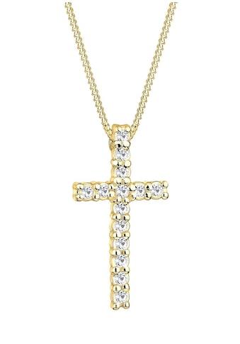 Elli Kreuzkette »0111751411«, mit Kristallen kaufen
