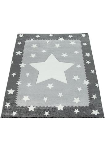 Paco Home Teppich »Ela 398«, rechteckig, 17 mm Höhe, Stern Motiv, Konturenschnitt, mit... kaufen