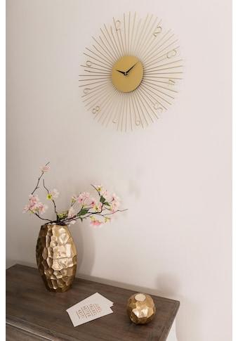 Leonique Wanduhr, goldfarben, rund, Ø 45,5 cm kaufen