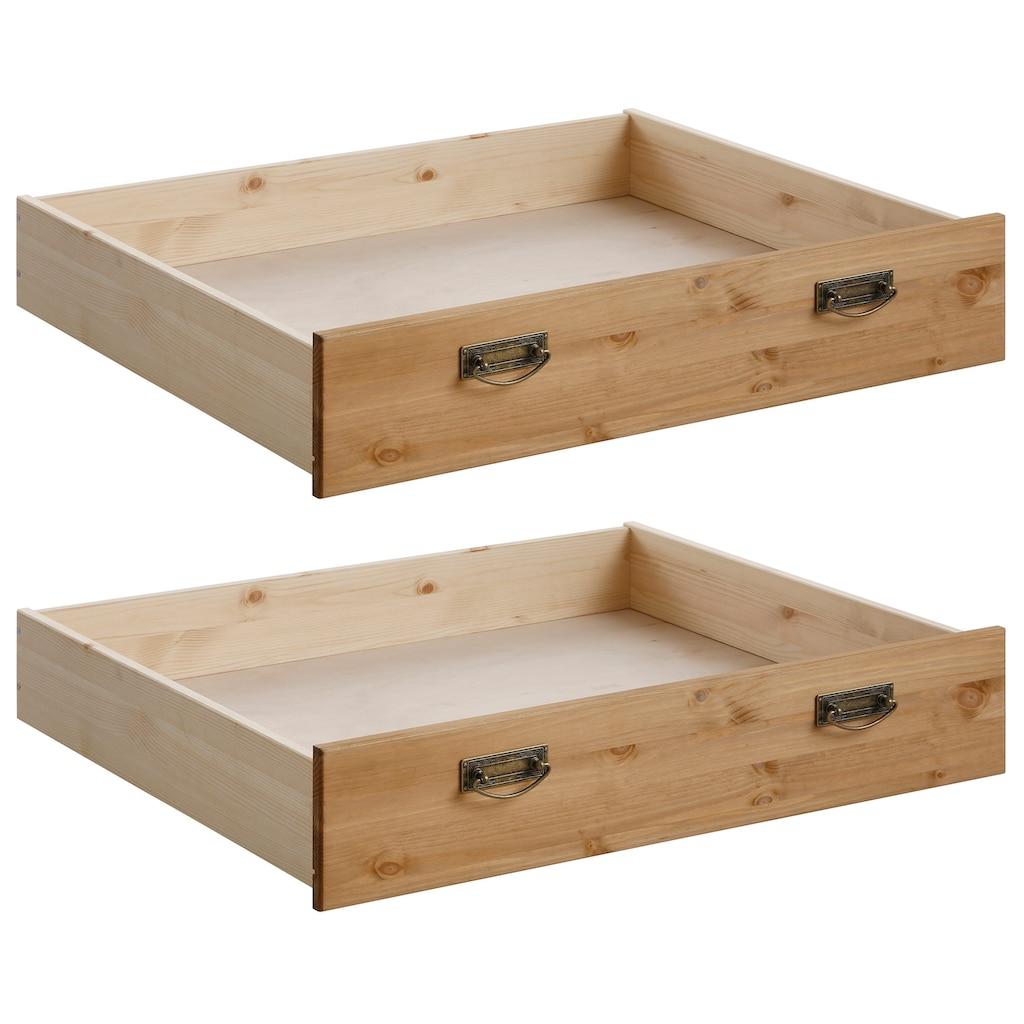Home affaire Schublade »Madrid«, aus Massivholz, der Unterboden ist aus einer Hartfaserplatte