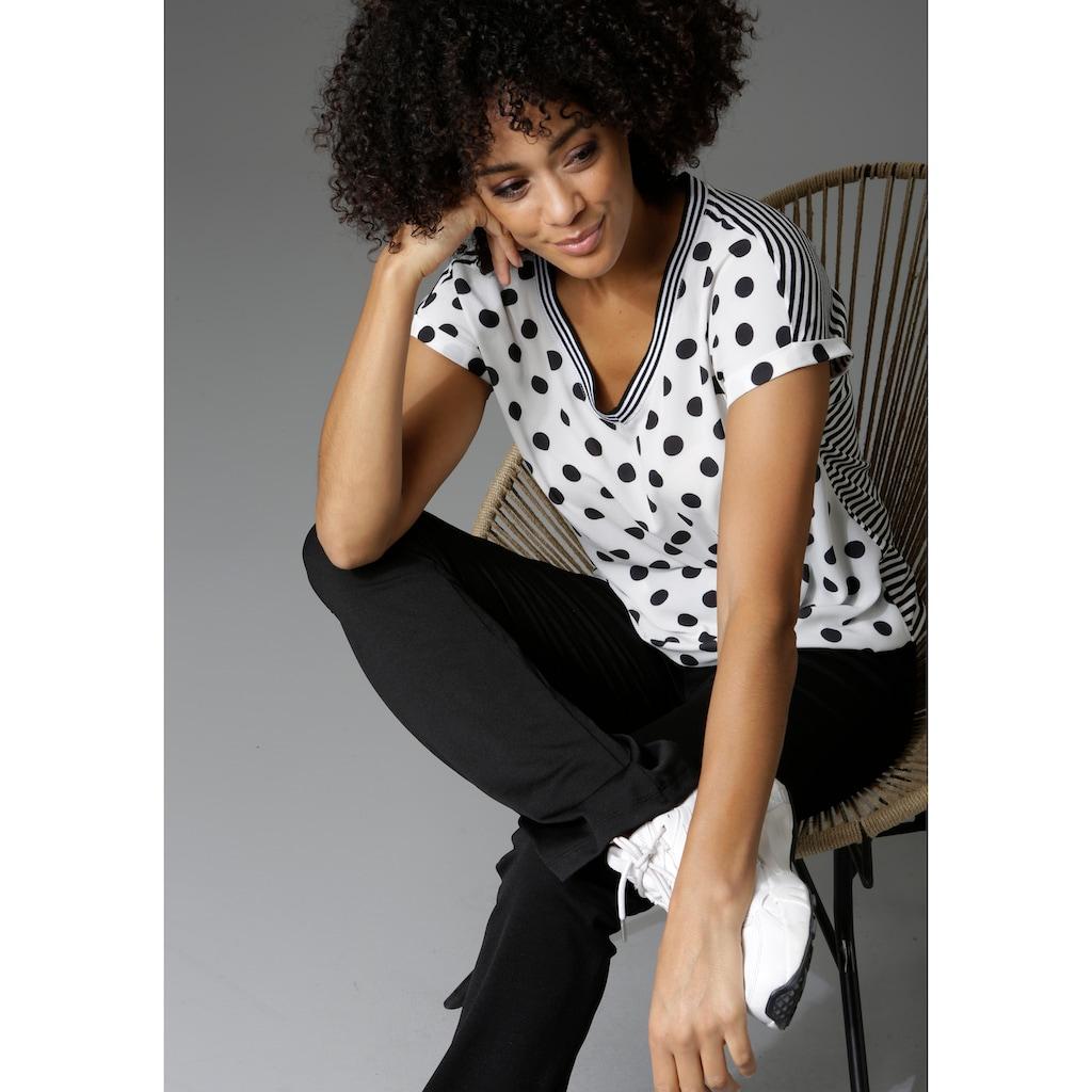 Aniston CASUAL Leggings, bedruckt oder uni - Du hast die Wahl