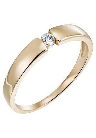 Firetti Diamantring »Verlobung, ca. 3,2 mm breit, Glanzoptik, massiv«, mit Brillant kaufen