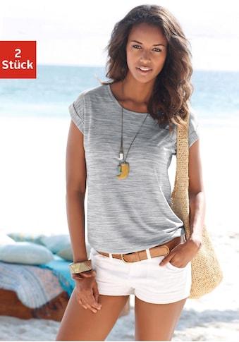 Beachtime T-Shirt, mit farbigem Struktureffekt kaufen