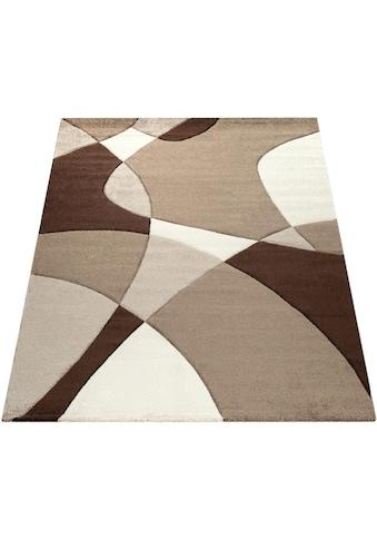 Paco Home Teppich »Diamond 664«, rechteckig, 18 mm Höhe, 3D-Design, Kurzflor mit... kaufen
