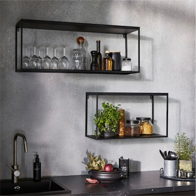 Küchenregale in Schwarz
