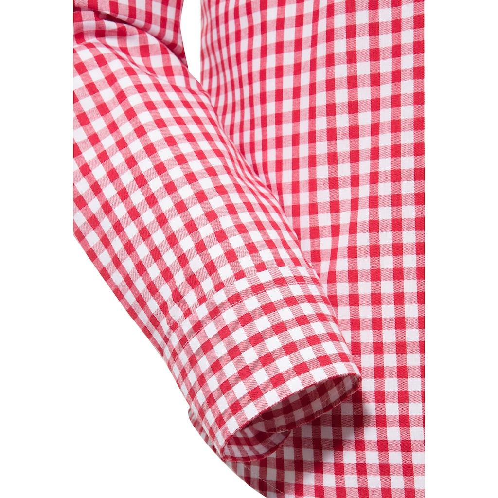 OS-Trachten Trachtenhemd, mit Krämpelärmeln und Stickerei