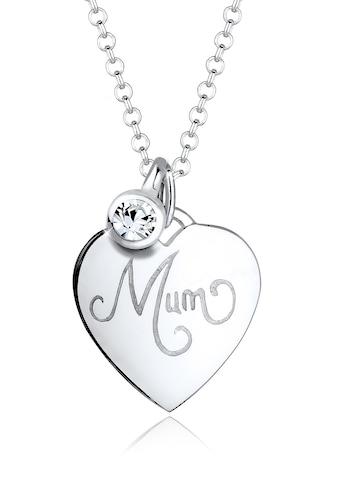 Elli Collierkettchen »Mum-Schriftzug Swarovski® Kristalle 925 Silber« kaufen