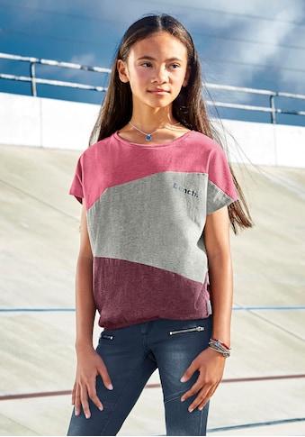 Bench. T-Shirt, mit modischen Einsätzen kaufen