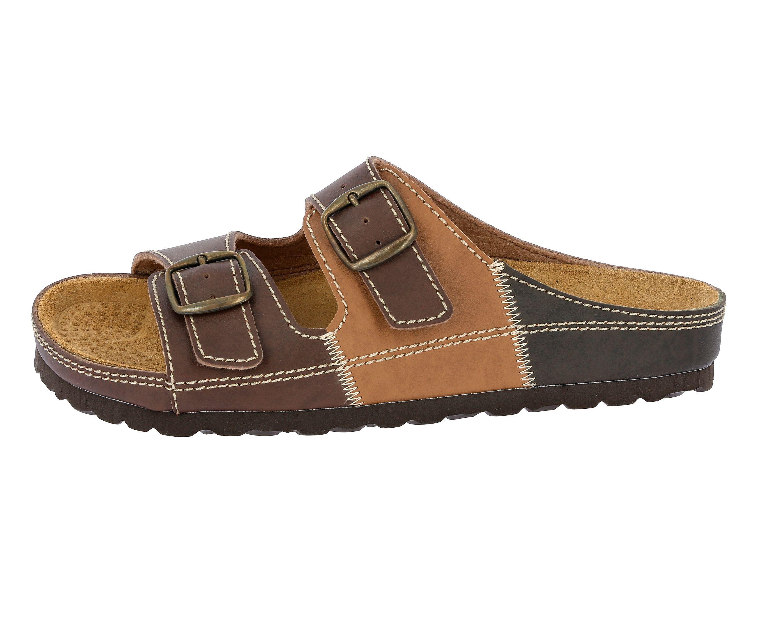 Pantolette mit Kork-Fußbett »NATURAL MAN«