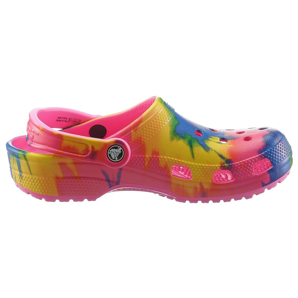 Crocs Clog »Classic Tie Dye Graphic«, mit Batik-Muster