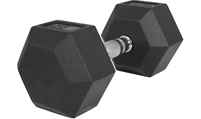 GORILLA SPORTS Kurzhantel »Hexagon Kurzhantel Gummi 15 kg«, 15 kg kaufen