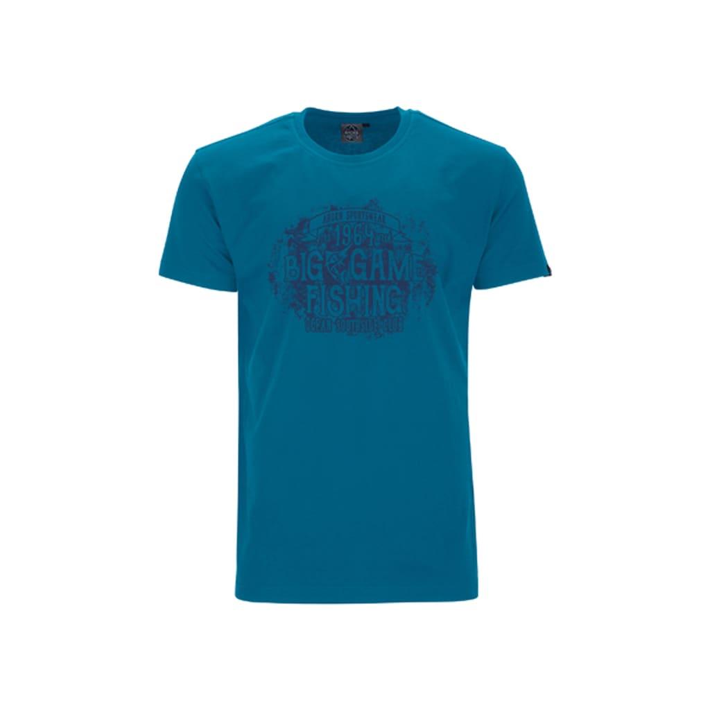 AHORN SPORTSWEAR Print-Shirt »Big Fishing Alpine Blue«, mit coolem Frontmotiv
