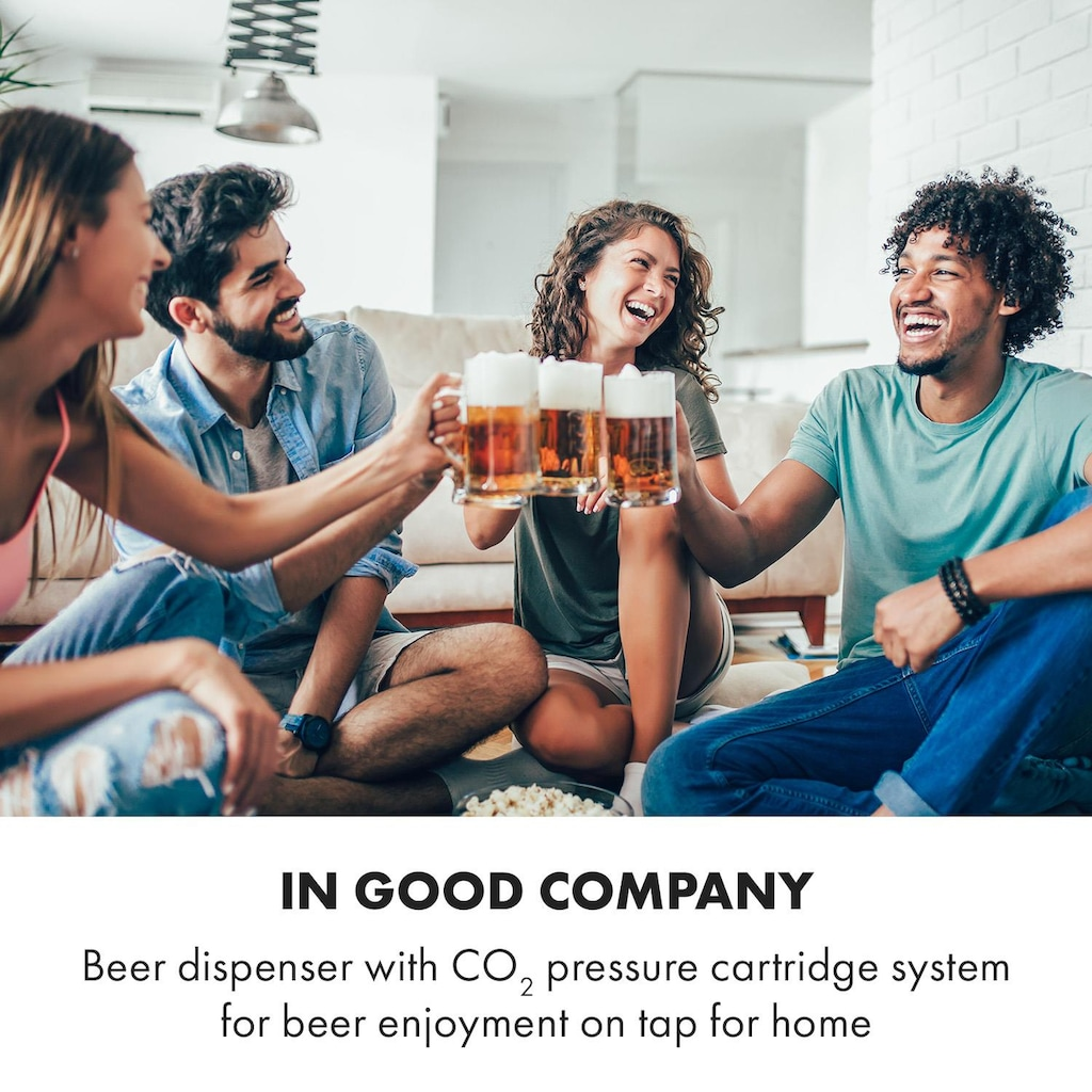 Klarstein Bierzapfanlage 5l Fässer | Kompressor | 120W