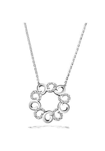 goldmaid Collier, 925 Sterlingsilber Blume 45 Zirkonia weiss kaufen