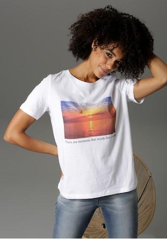 Aniston CASUAL T-Shirt, mit Sonnenuntergans-Motiv und Statementschirftzug kaufen