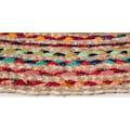 Barbara Becker Teppich »Ethno«, rund, 4 mm Höhe, Flachgewebe, handgeflochten, Ø ca. 80 cm, Material: Jute & recycelte Baumwolle, Wohnzimmer