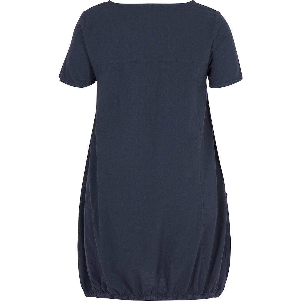 Zizzi Blusenkleid, mit seitlichen Eingrifftaschen