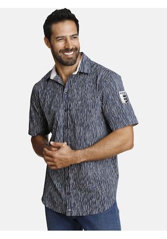 Jan Vanderstorm Kurzarmhemd »BODIL«, mit unregelmäßigen Streifen kaufen
