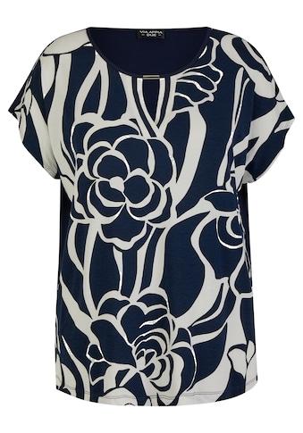 VIA APPIA DUE Print-Shirt, mit Cut-Out und einfarbigem Rücken kaufen