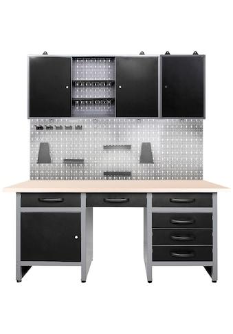 ONDIS24 Werkstatt - Set »Fritz«, 3 - tlg., Werkbank mit Lochwand & 2 Werkstattschränken kaufen