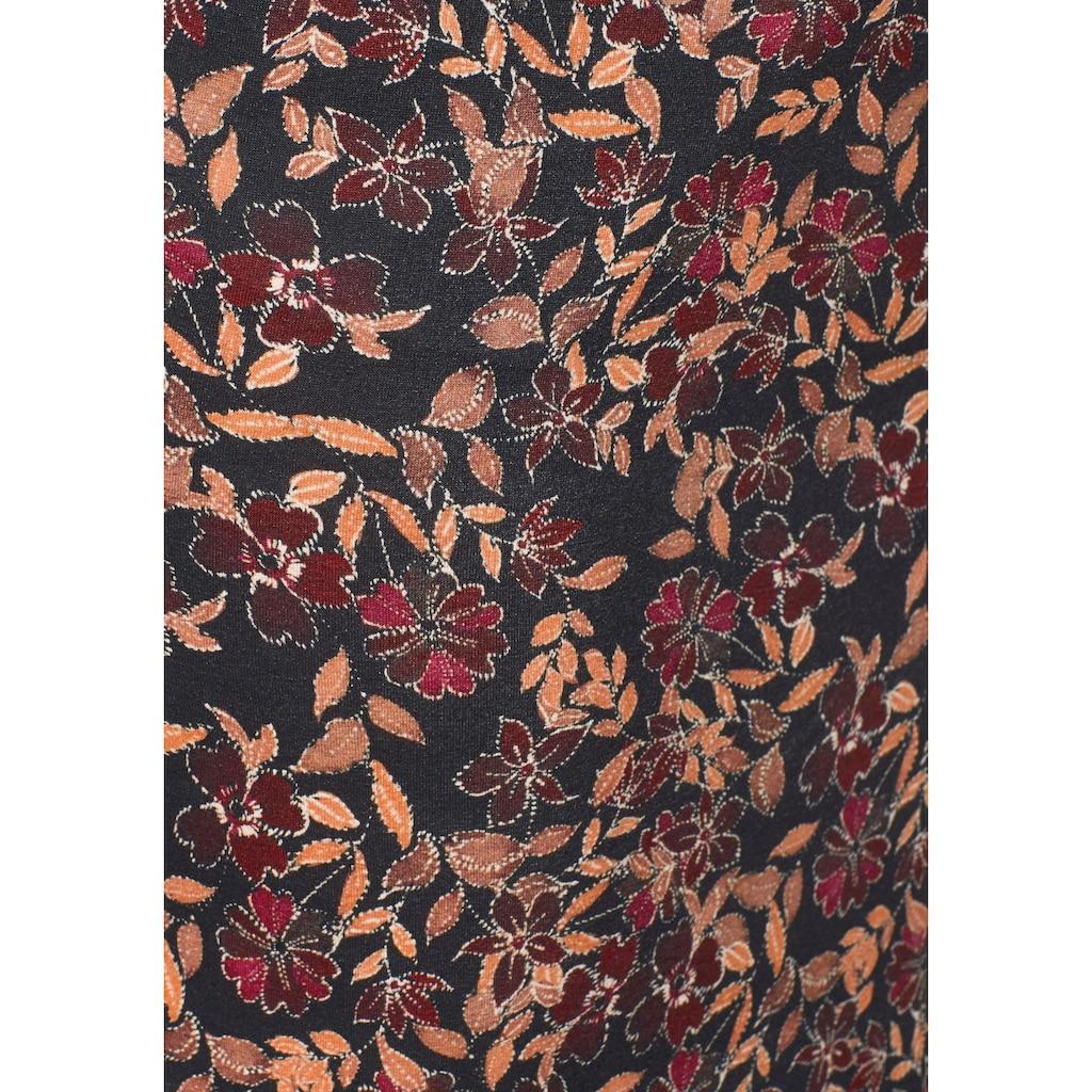 Boysen's Jerseyrock, mit floralem Alloverdruck