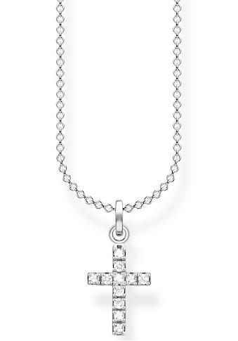 THOMAS SABO Kette mit Anhänger »Kreuz, KE2069-051-14-L45v«, mit Zirkonia kaufen