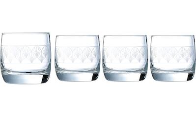 Luminarc Whiskyglas »Paradisio«, (Set, 4 tlg.), mit Pantographie-Optik, 4-teilig kaufen