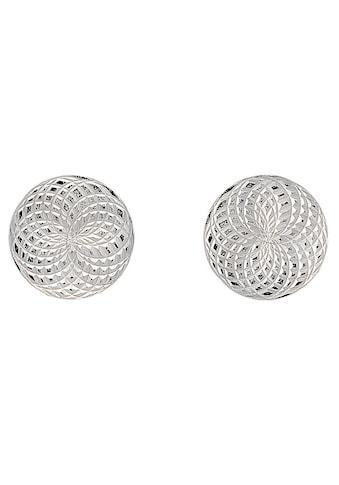 Firetti Paar Ohrstecker »Scheibe mit rotierendem Kreis, strukturiert« kaufen