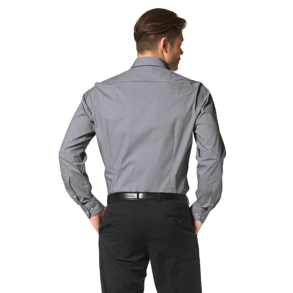OLYMP Businesshemd »Level five body fit«, kleines Karomuster
