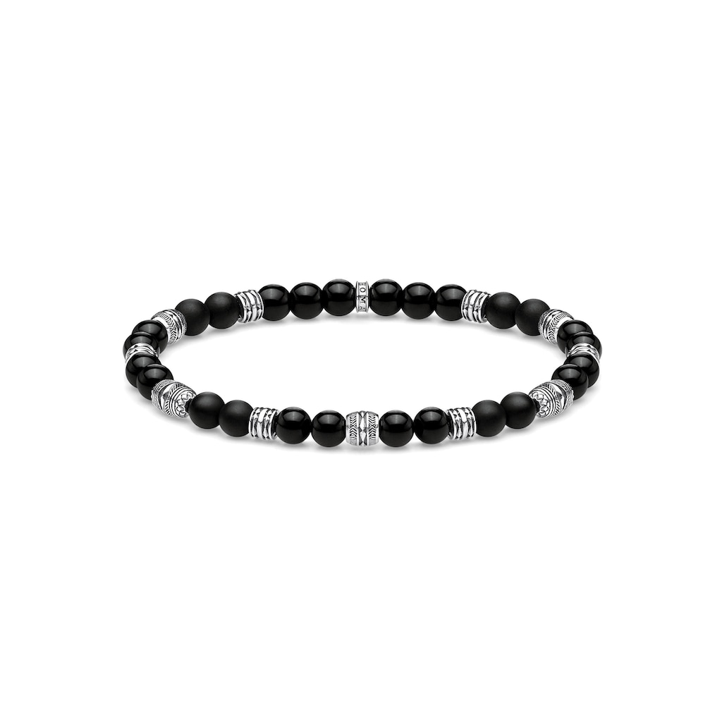 THOMAS SABO Armband »Talisman schwarz, A1924-704-11-L17, L19«, mit Obsidian