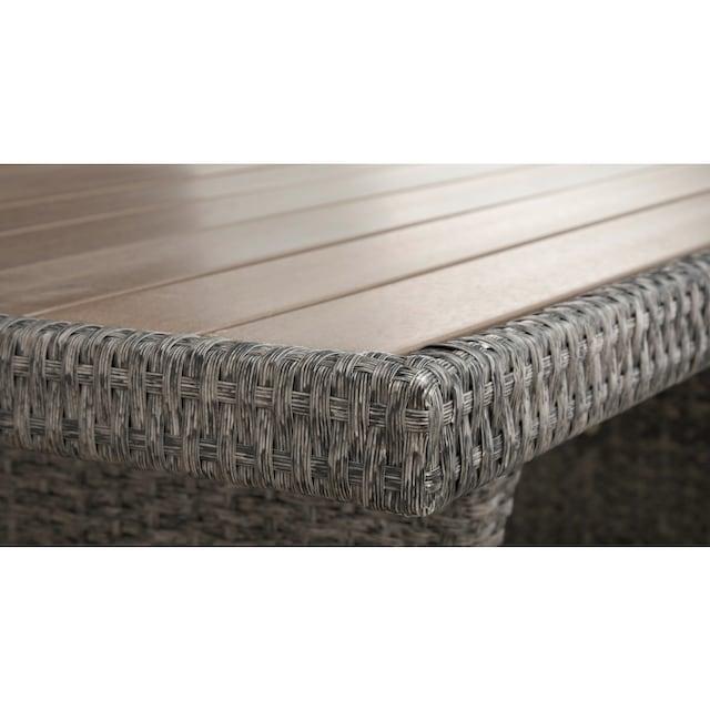 KONIFERA Loungeset »Siros«, 12-tlg., 3-er Sofa, 2 Sessel, Tisch 135x82 cm, Polyrattan