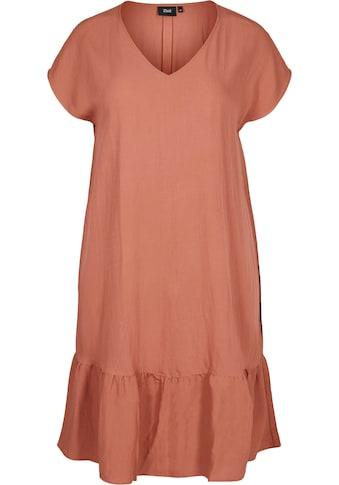 Zizzi Shirtkleid, mit Volant am Saum kaufen