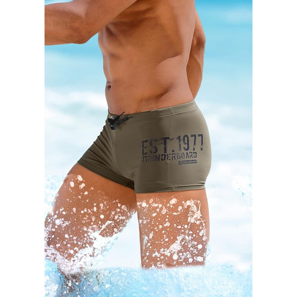 Bruno Banani Boxer-Badehose, mit seitlichem Print