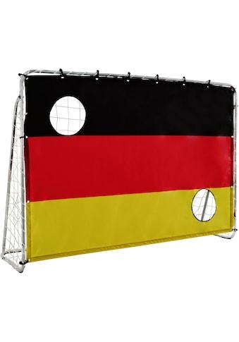 L.A. Sports Fußballtor »Soccer Goal 2in1 Set - Kinder Tor mit Netz und Torschusswand«, (2in1 Kinderfussballtor und Torschusswand) kaufen