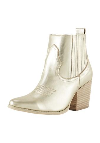 Stiefelette im Metallic - Look kaufen