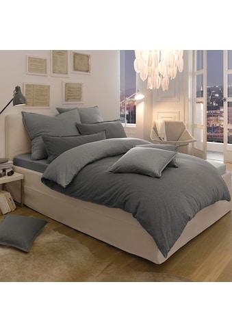 Schlafgut Wendebettwäsche »Melange Uni«, passend zu Spannbettlaken und Kissenbezug kaufen