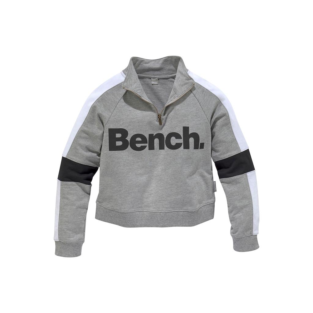 Bench. Sweatshirt, mit Stehkragen in kurzer Form