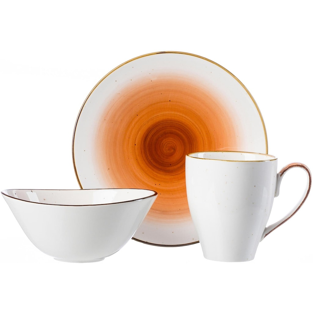 Ritzenhoff & Breker Frühstücks-Geschirrset »COSMO«, (Set, 3 tlg.), Mikrowellengeeignet