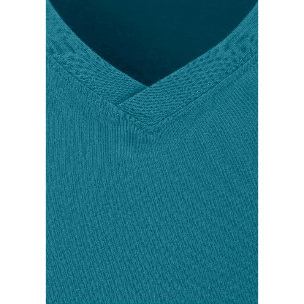 H.I.S Unterziehshirt, (Packung, 3 St.), mit V-Ausschnitt aus Baumwolle