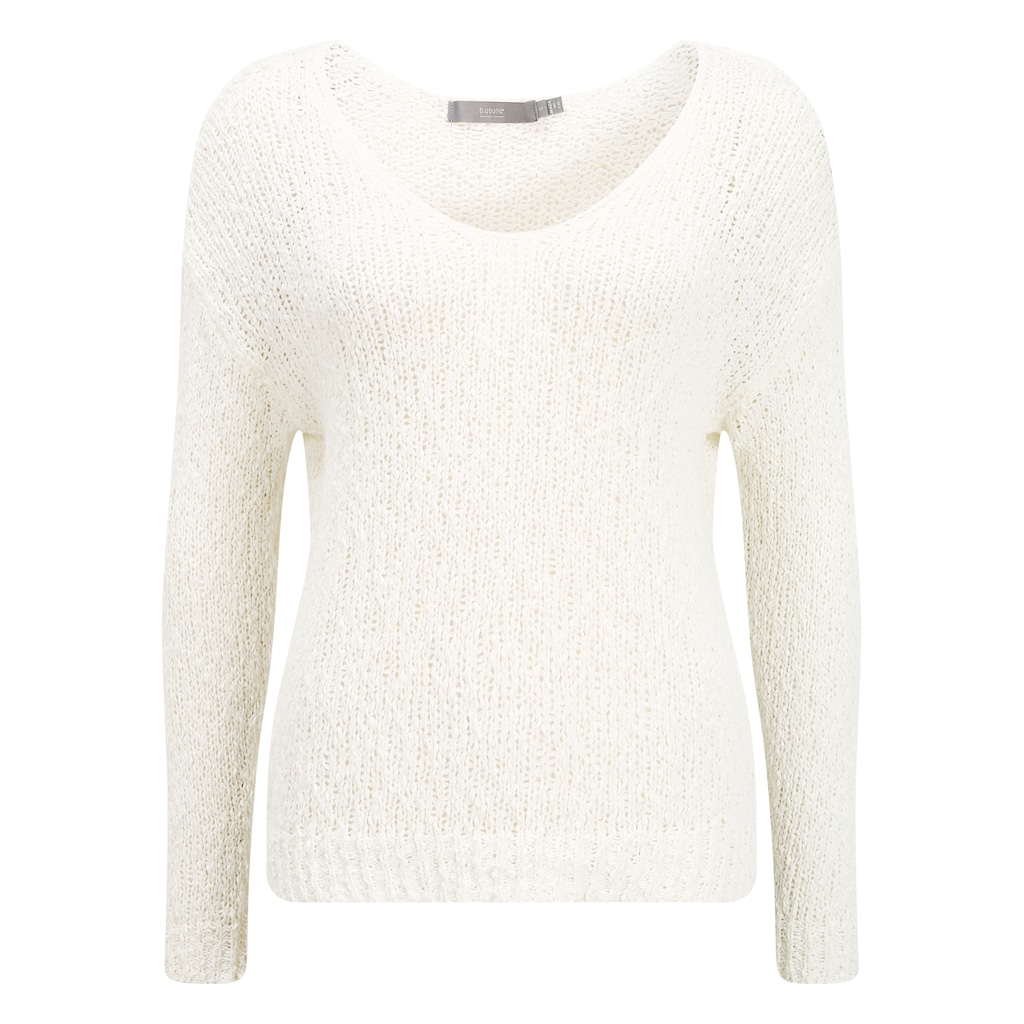 b.young Strickpullover »Mala«, Oversize-Pullover in Loch-Strick Optik