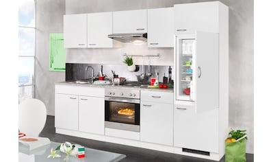 wiho Küchen Küchenzeile »Valencia«, mit E - Geräten, Breite 270 cm kaufen