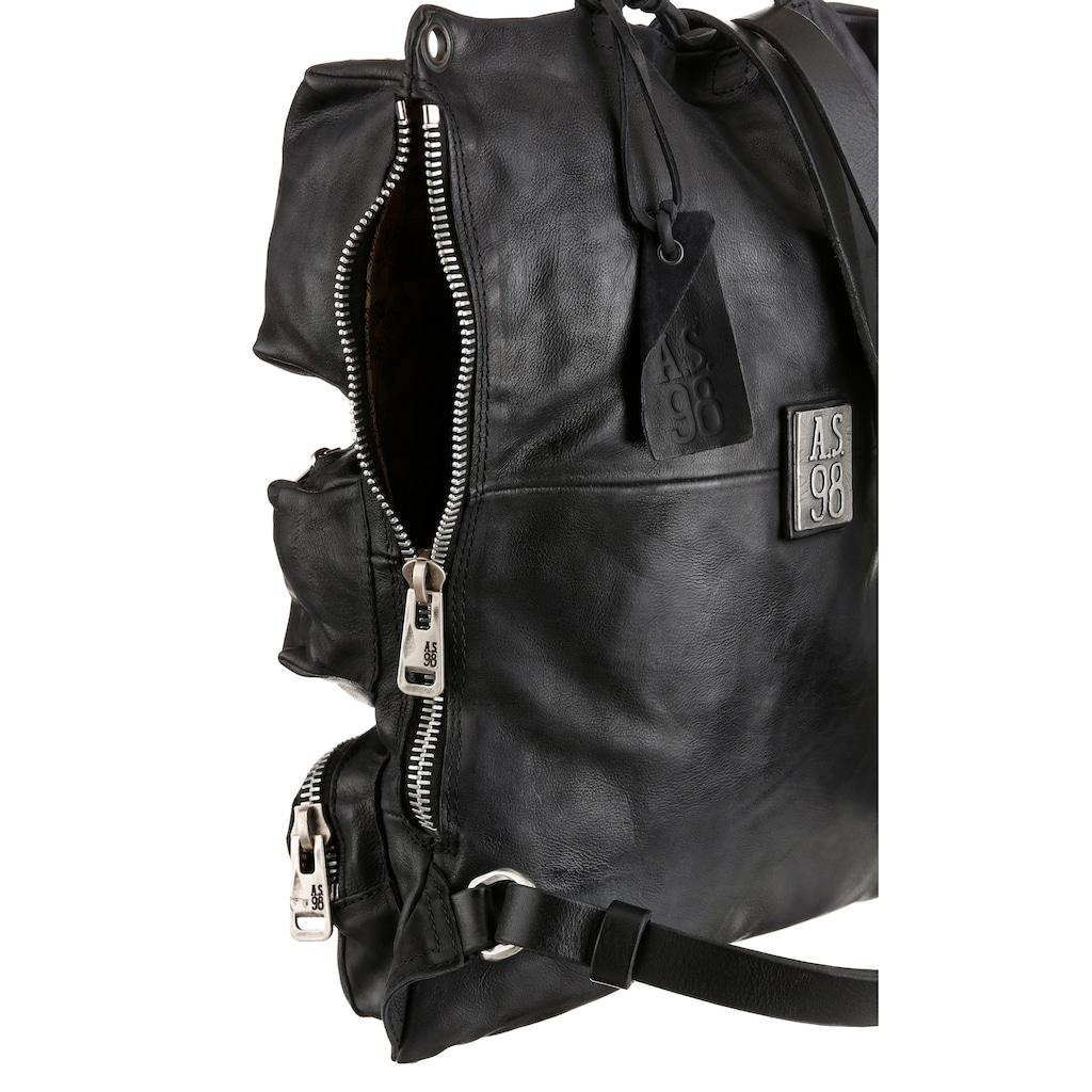 A.S.98 Cityrucksack, aus hochwertigem Leder