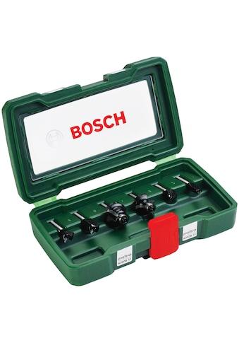 BOSCH Fräsbohrer, (Set, 6 tlg.), HM-Fräser 6 mm Schaft kaufen
