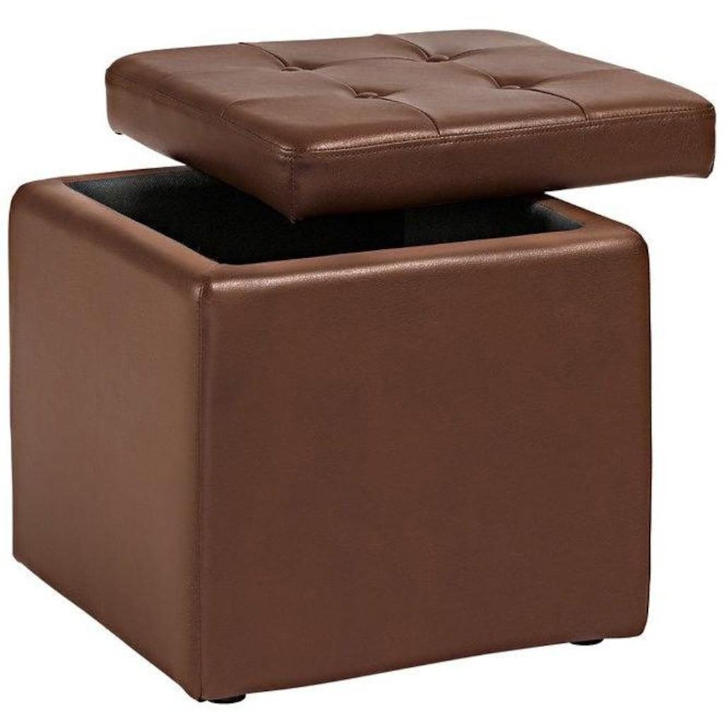 Home affaire Sitzwürfel, mit gepolstertem Deckel